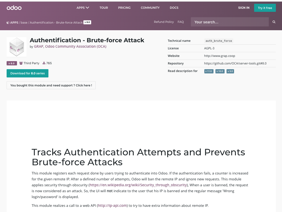 brute force attack module